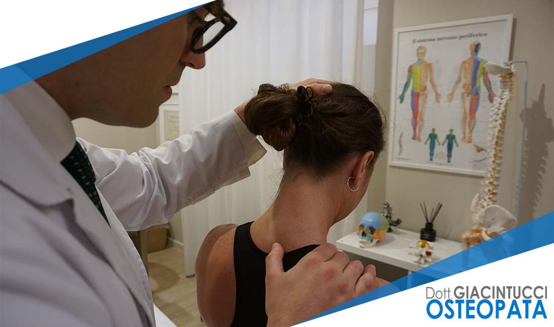 cervicobrachialgia Giacintucci osteopata Milano
